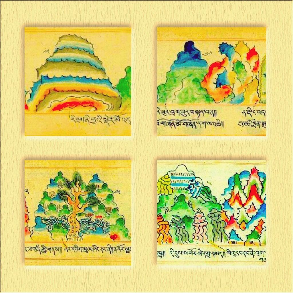Тибетская Геомантия. Иллюстрации.